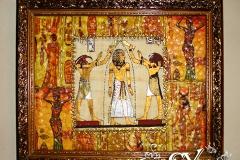 Артикул № К37. Цена  3500 р. Настенный декупаж  из папируса 38-48 см.