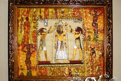 Артикул № К37. Цена   3500 р. Настенный декупаж  из папируса 38-48см